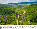 Carpathian gorge in the mountains. 66372429