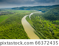 Mountain river in the foothills of the Carpathians. 66372435