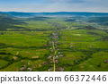 Carpathian valley in the mountains. 66372446