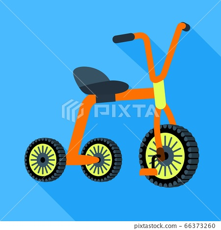 Metal tricycle icon, flat style 66373260