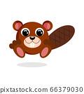 beaver vector illustration. Flat design 66379030