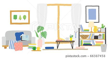 客廳裡裝滿了東西 66387458