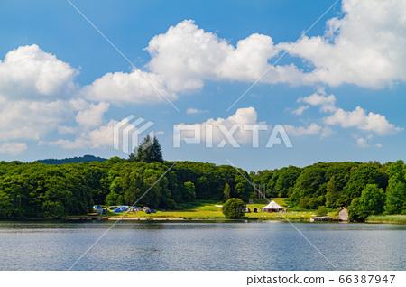 Beautiful nature landscape around Lake Windermere 66387947