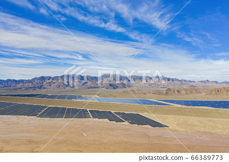 Aerial view of Nevada Solar One 66389773