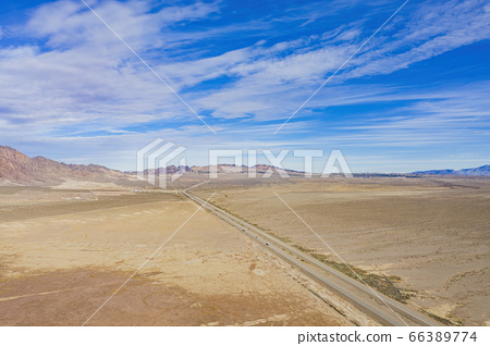 Aerial view of Nevada Solar One 66389774