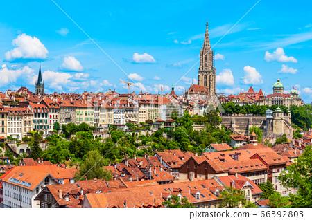 Bern aerial panoramic view, Switzerland 66392803