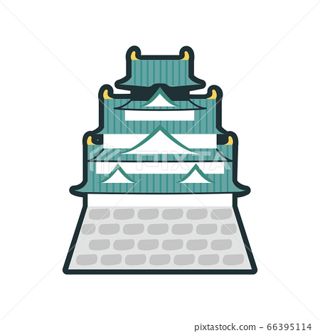 Image icon of the castle of Osaka famous place. 66395114