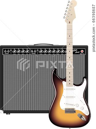 吉他和放大器 66398687