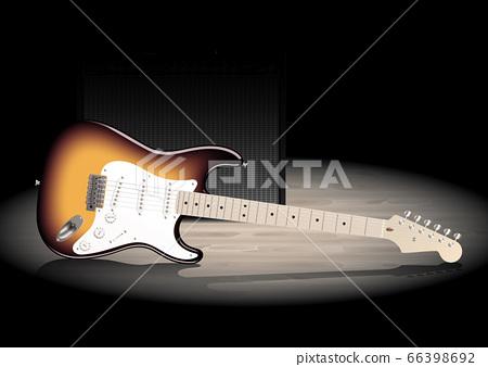 吉他和放大器 66398692