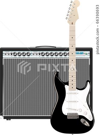 吉他和放大器 66398693