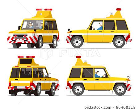 快速巡邏,交通管制,高速公路,作業車輛,插圖,設置 66408318