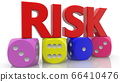Four Dices with Risk concept 66410476