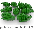 Concept of Green hand grenades 66410479