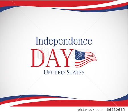 vector image of american flag, USA United States 66410616