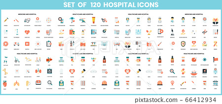 Hospital icons set for business 66412934