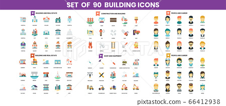building and construction icons set for business 66412938