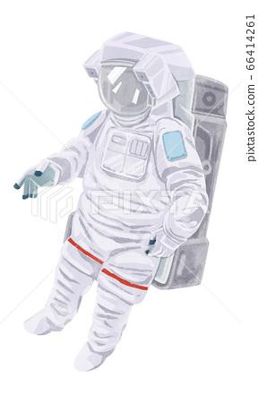 宇航員的水彩插圖 66414261