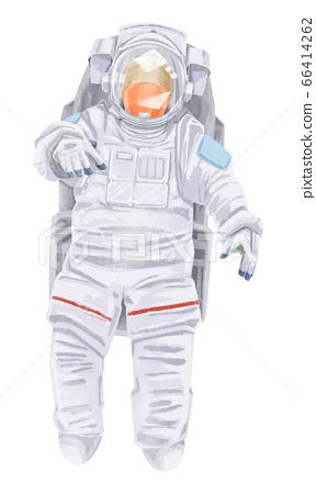 우주 비행사의 수채화 일러스트 66414262