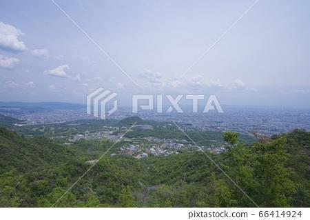 효고현 니시 노미야시의 관음산 정상 부근에서의 전망 66414924