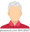 Senior Man Blank Face Illustration 66418007