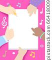 Kids Hands Write Song Lyrics Frame Illustration 66418009
