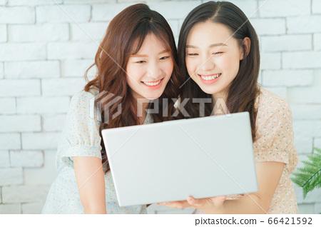 Women, couple, lifestyle 66421592