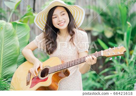 Woman, music, lifestyle 66421618