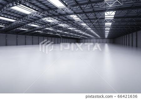 Interior empty factory 66421636