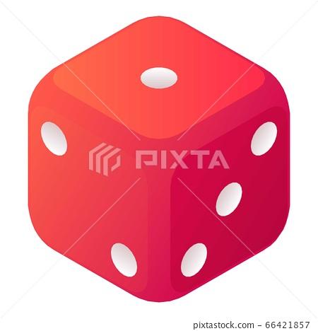 Dice gambling icon, isometric style 66421857
