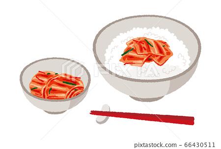 Illustration of kimchi and kimchi rice 66430511
