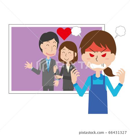 外遇外遇憤怒證明女人 66431327