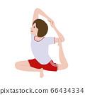 体操瑜伽鸽子姿势女孩插画 66434334