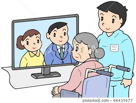 Nursing facility remote visit 66435677