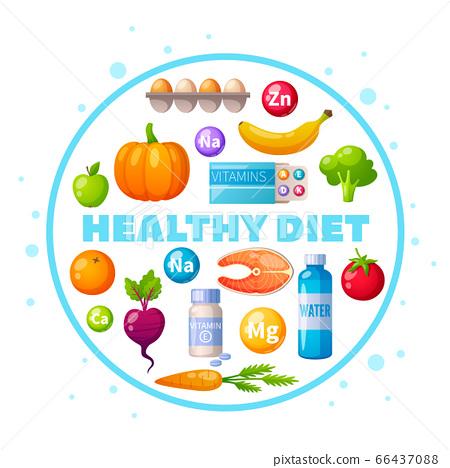 Nutritionist Healthy Diet Cartoon  66437088