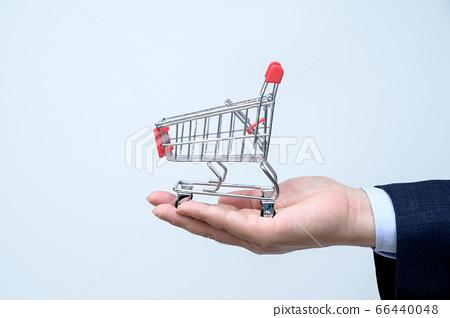 迷你購物車和商人 66440048