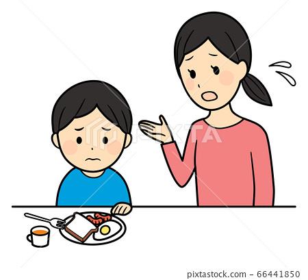 아침을 먹지 않는 남자와 엄마 66441850