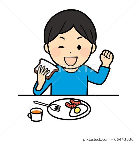 아침 식사 소년 66443636