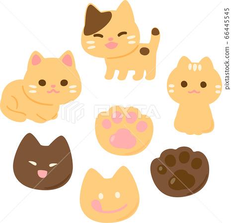 貓模切餅乾 66445545