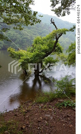 Juwangsan Mountain Jusanji Landscape of South Kore 66446874
