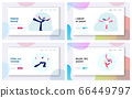 Winter Sport Figure Iceskating Activity Website Landing Page Set. Sportsman and Sportswoman Performing on Ice Rink with Skating Program. Competition Web Page Banner. Cartoon Flat Vector Illustration 66449797