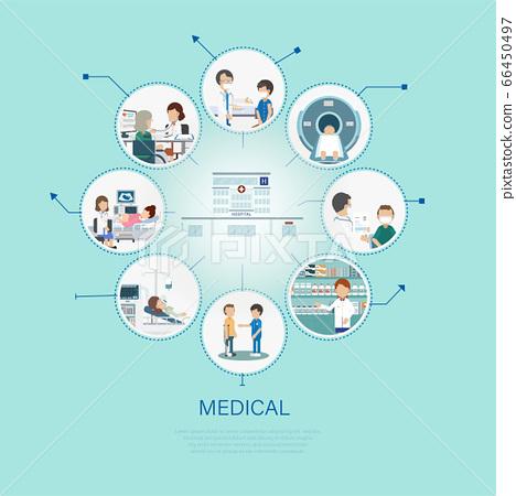 Medical concept flat design 66450497
