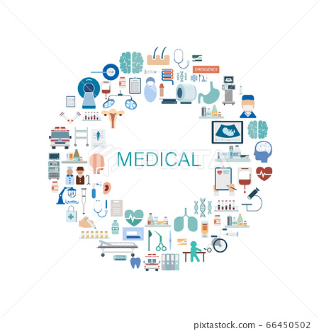 Medical concept with icons 66450502