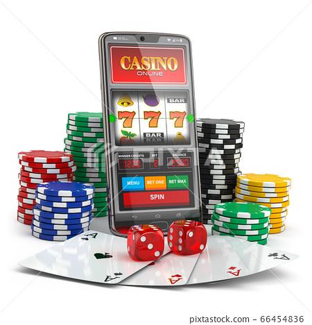 Online Casino Slot Machine On Smartphone Screen Stock Illustration 66454836 Pixta