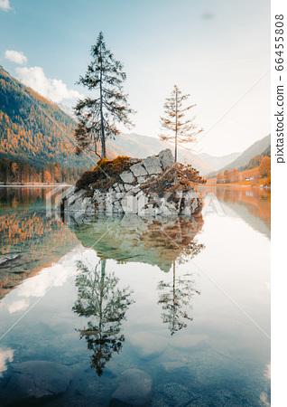 Lake Hintersee at sunset, Bavaria, Germany 66455808