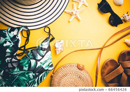 Summer holiday flat lay 66456426