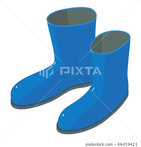 Garden rubber boots icon, isometric style 66459421