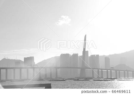 斜陽中的大橋 66469611