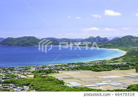 立石山에서 본 이토의 아름다운 풍경 幣 바닷가 후쿠오카 현 이토 시마시 66470319