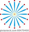 [Summer image] Fireworks (white background illustration) 66470400