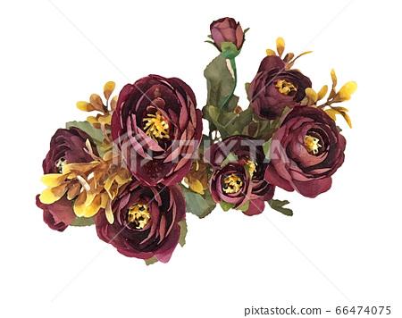꽃 수채화 재료 66474075
